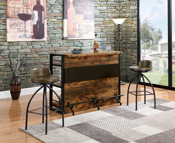 Industrial Antique Nutmeg Bar Unit