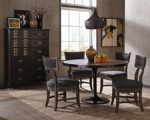 Mayberry Rustic Black Dining Table