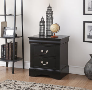 Louis Philippe III Black Nightstand image