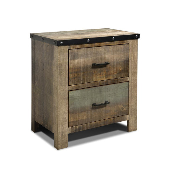 Sembene Antique MultiColored Nightstand
