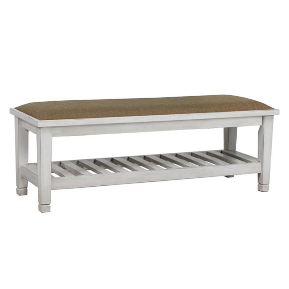 Franco Antique White Bench