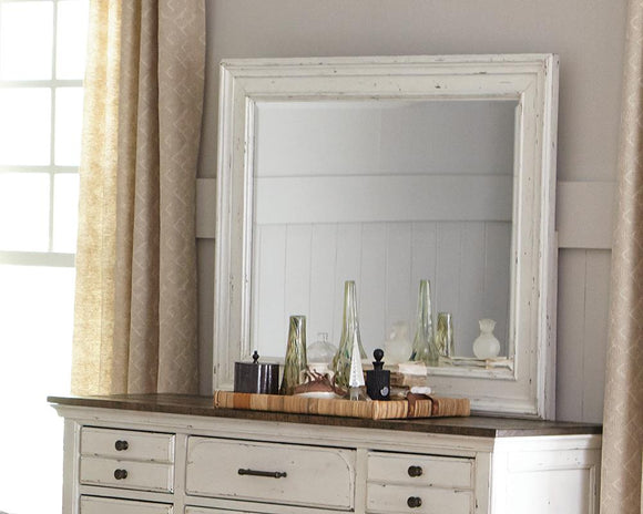 Traditional Vintage White Mirror