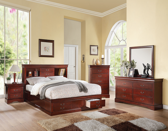 Louis Philippe III Cherry Queen Bed image