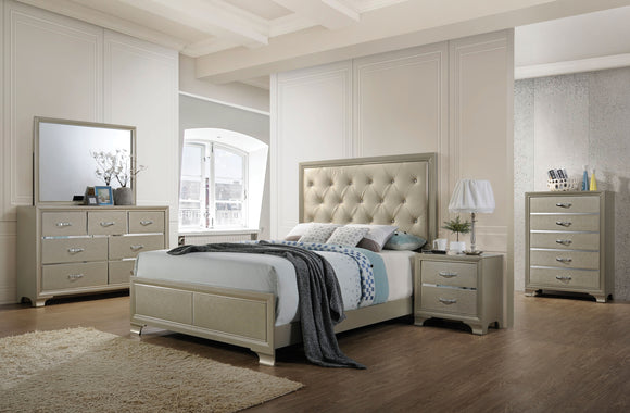 Carine PU & Champagne Queen Bed image