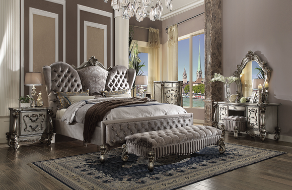 Versailles Velvet & Antique Platinum Eastern King Bed image