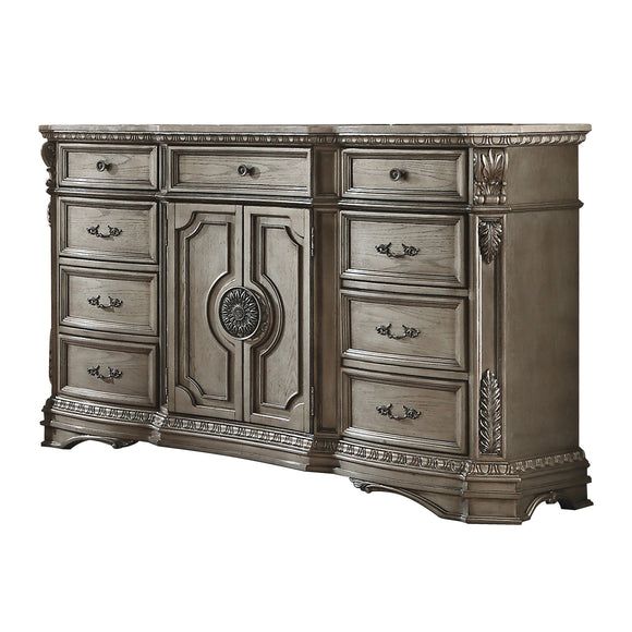 Northville Antique Silver Dresser (MARBLE TOP) image