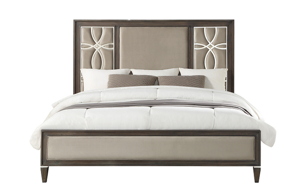 Peregrine Fabric & Walnut Eastern King Bed image