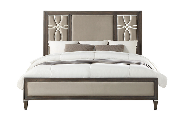 Peregrine Fabric & Walnut Queen Bed image