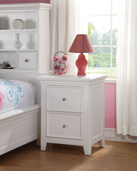 Lacey White Nightstand (2 DRAWERS) image