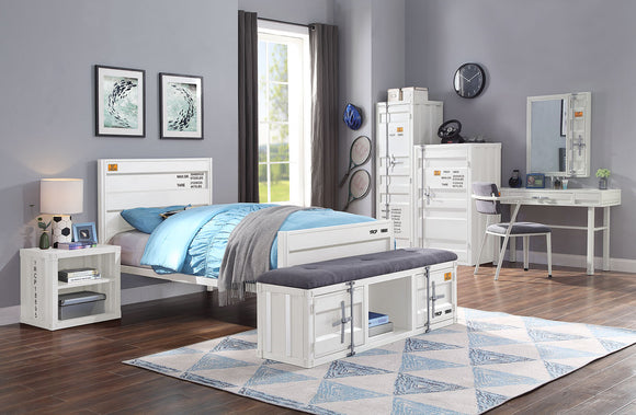 Cargo White Twin Bed image