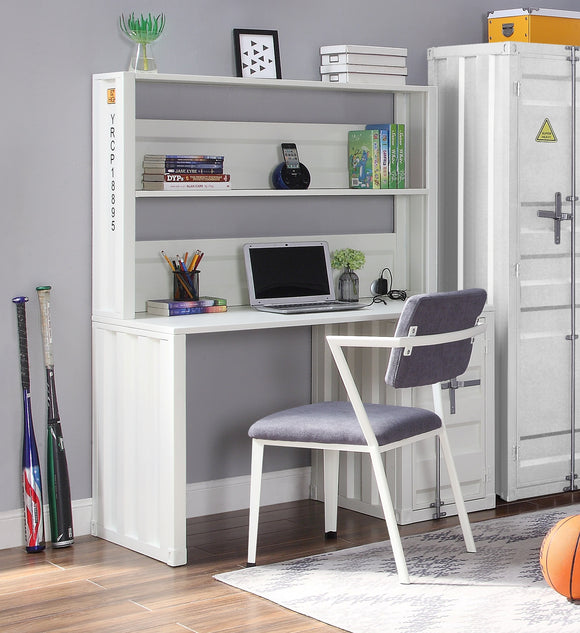 Cargo White Desk & Hutch image