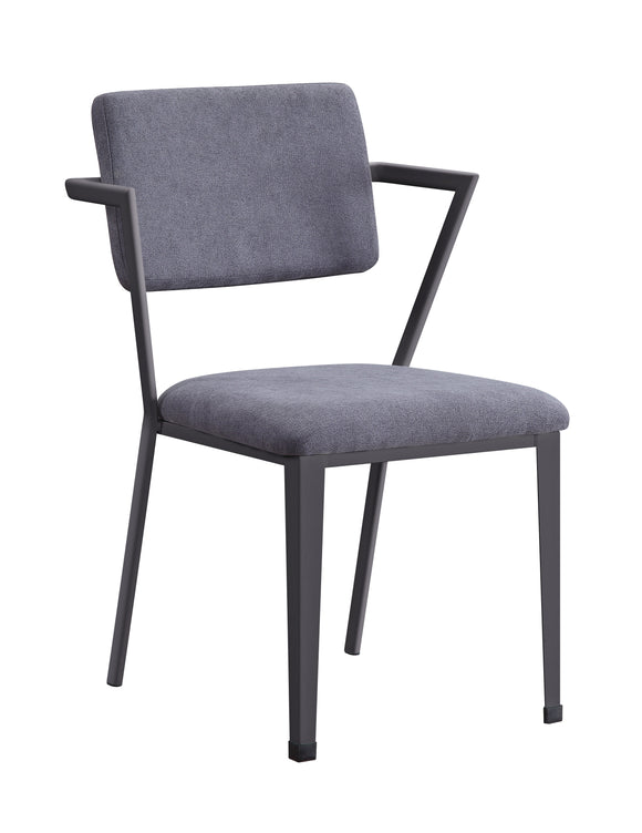 Cargo Gray Fabric & Gunmetal Chair image