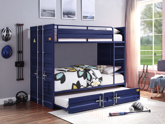 Cargo Blue Bunk Bed (Twin/Twin) image