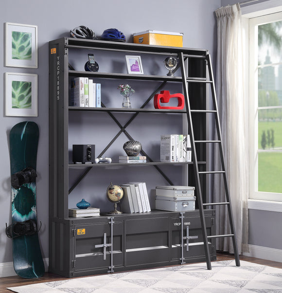 Cargo Gunmetal Bookshelf & Ladder image