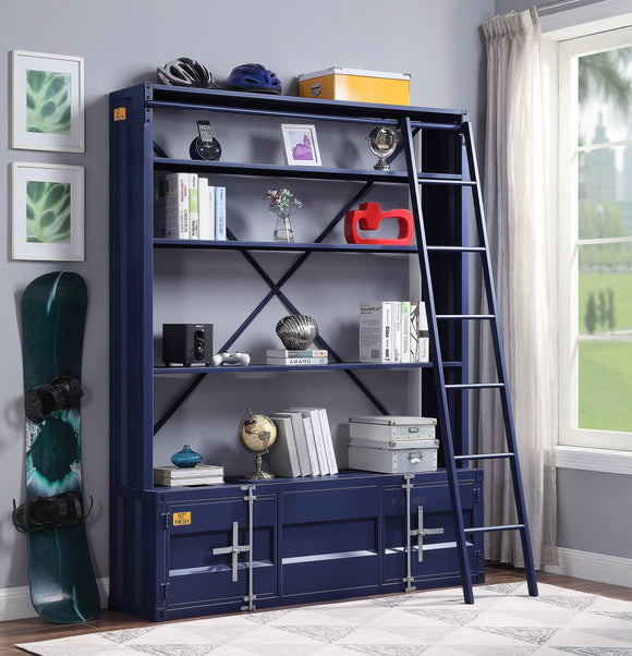 Cargo Blue Bookshelf & Ladder image