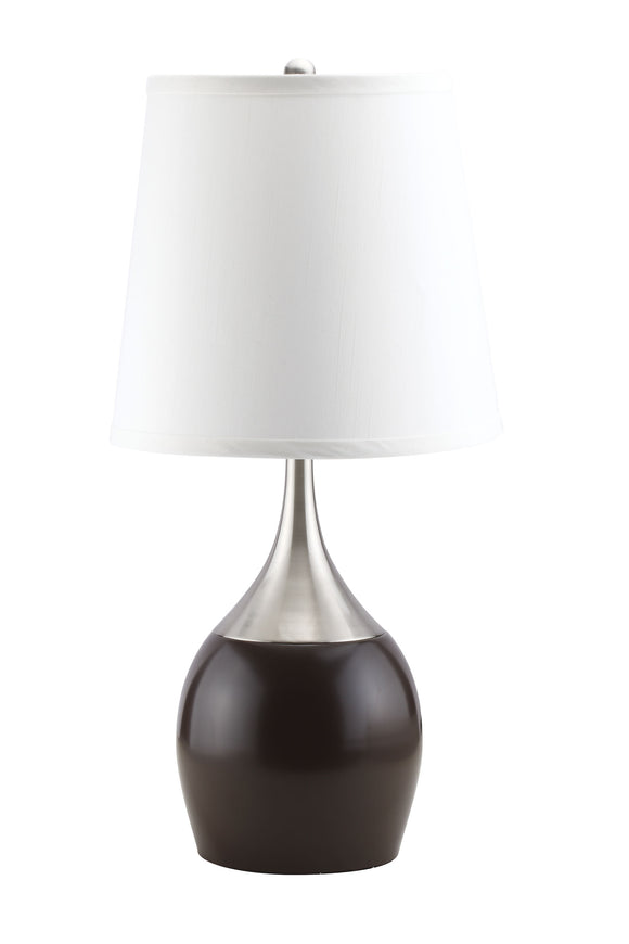 Willow Brushed Silver, Espresso Table Lamp image
