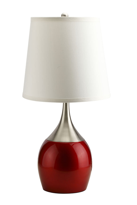 Willow Brushed Silver, Red Table Lamp image