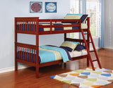 Parker Chestnut Twin-over-Twin Bunk Bed