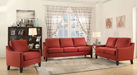 Zapata Red Linen Sofa image