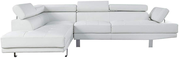 Acme Furniture Connor Sectional Sofa Set in Cream 52645 image