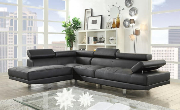 Acme Furniture Connor Sectional Sofa Set in Black 52650 image