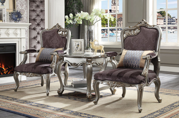 Picardy Velvet & Antique Platinum Chair & 1 Pillow image
