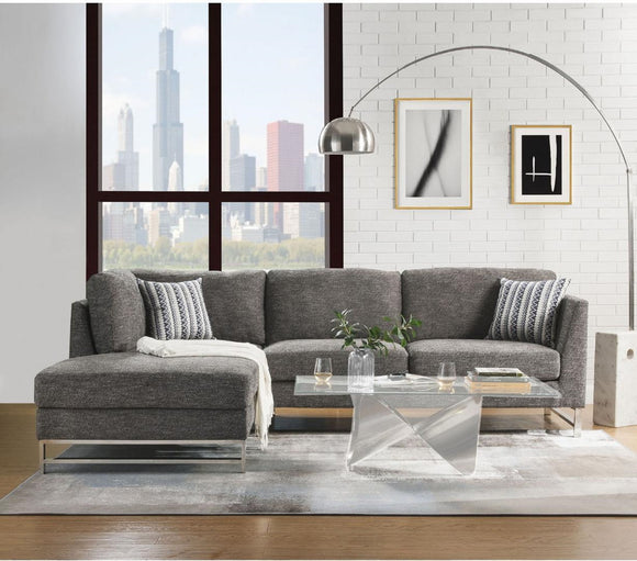 Acme Furniture Varali Sectional Sofa in Gray Linen 54555 image