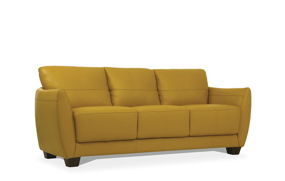 Valeria Mustard Leather Sofa image