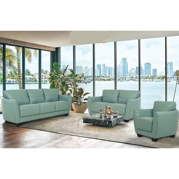 Valeria Watery Leather 3-Piece Living Room Set image