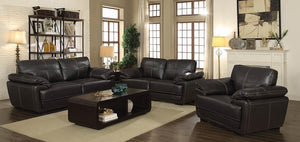 Zenon Casual Brown Sofa