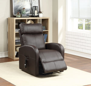Ricardo Brown PU Recliner w/Power Lift image