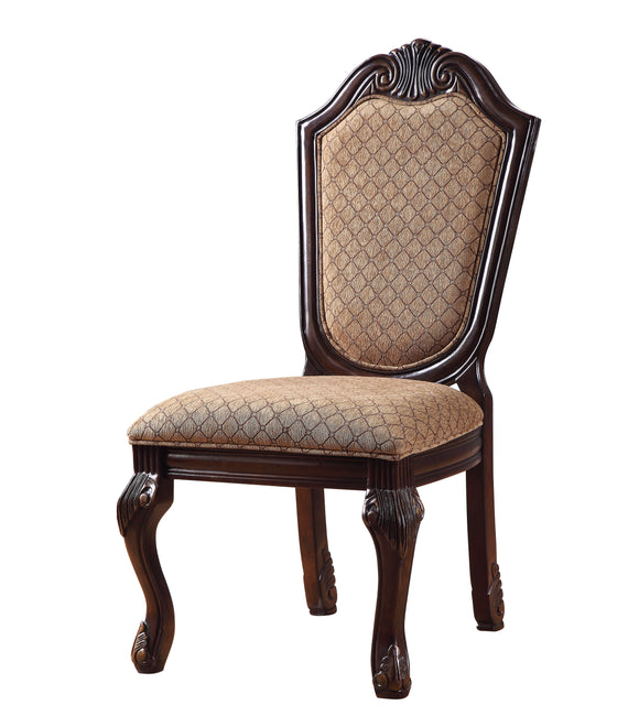 Chateau De Ville Fabric & Espresso Side Chair image