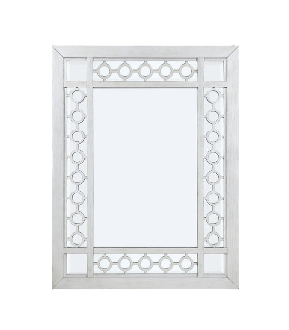 Varian Mirrored & Antique Platinum Mirror image