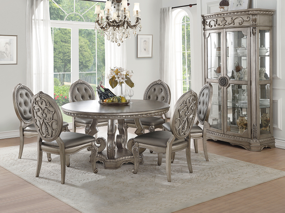 Northville Antique Silver Dining Table image