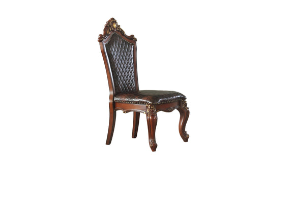 Picardy Cherry Oak & PU Side Chair image
