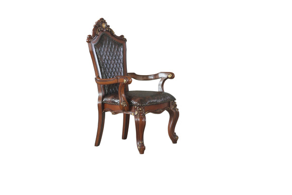 Picardy Cherry Oak & PU Arm Chair image