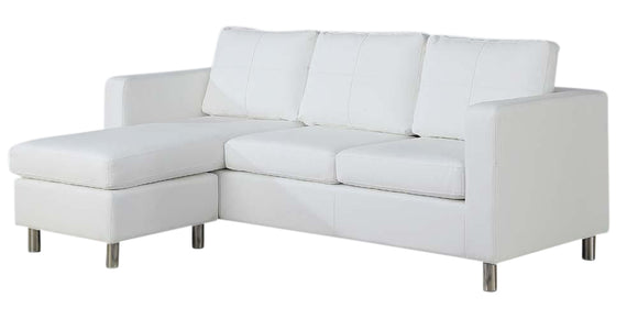 ACME Kemen Modern  Reversible Chaise Sectional in White 15068 image