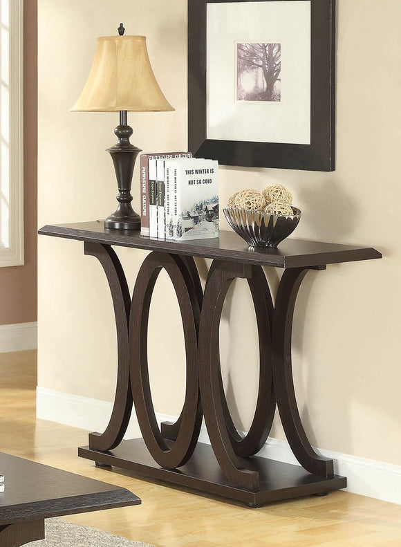 Casual Cappuccino Sofa Table