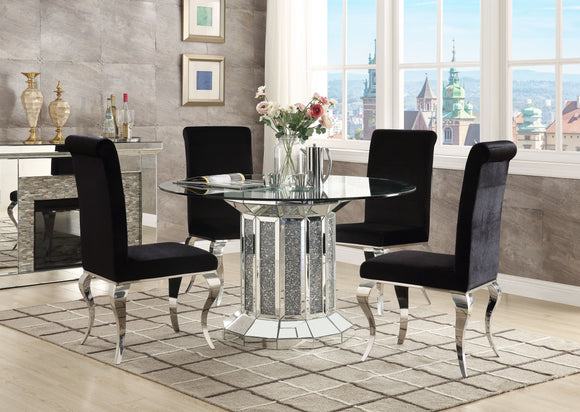 Noralie Mirrored & Faux Diamonds Dining Table image