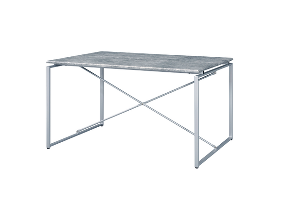 Jurgen Faux Concrete & Silver Dining Table image