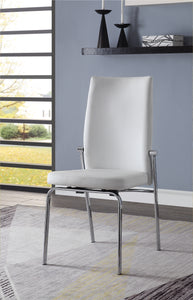 Osias White PU & Chrome Side Chair image