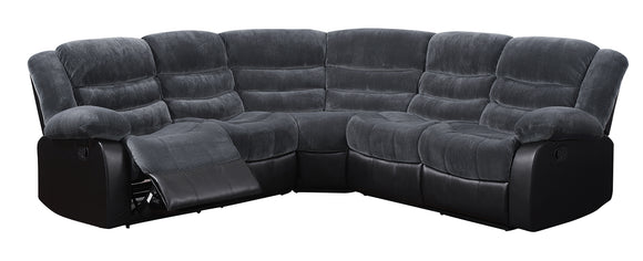 Global Furniture U93935 3-Piece Sectional in Champion Thunder/Black image