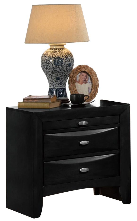 Global Furniture Celia 2 Drawer Nightstand in Black image