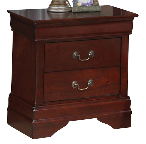 Global Furniture Philippe 2 Drawer Nightstand in Cherry image