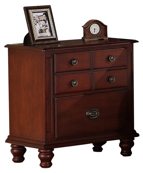 Global Furniture Laura 2 Drawer Nightstand in Cherry image