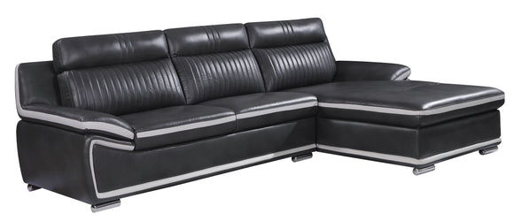Global Furniture U7490 2-Piece Sectional in Blanche Lividity/ Light Grey image