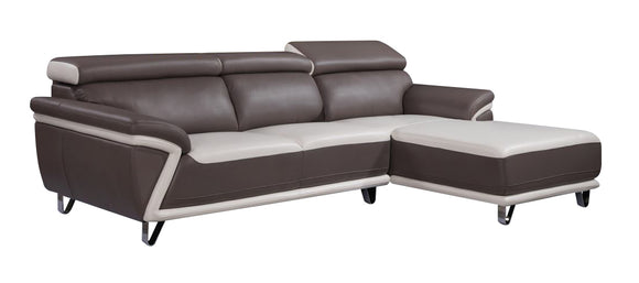 Global Furniture U7480 2-Piece Sectional in Blanche Milky/ Blanche Grey image