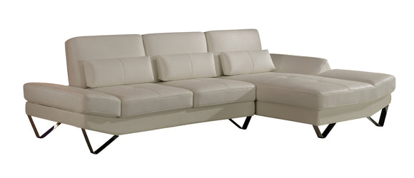 Global Furniture U1350 2-Piece Sectional w/ Backrest Cushions in White image