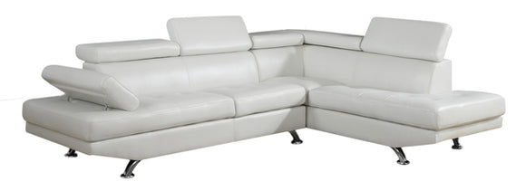 Global Furniture U9782 2-Piece Sectional in White image