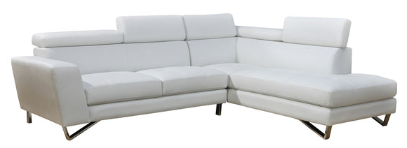 Global Furniture U9836 2-Piece Sectional in White image
